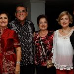 Alba Venegas de Perdomo, Edgar Perdomo Andrade, Margarita de Del Castillo, Carmen Henríquez y Amalia de Echavarria.