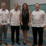 Guillermo Ramírez, Augusto Martínez, Mayra Hernández de Cavelier y John Montoya Cañas.