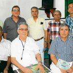 Juan Roca Bustamante, Edgar Perdomo Andrade, Benjamín Ochoa, Antonio Cogollo y Álvaro Tatis; Hernando Sará, Teofrasto Tatis y Jairo Alvis.