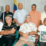 Uriel Pájaro Flórez, Hernando Sará Domínguez, Manuel Eljaiek, Ramón Arellano y Edgardo Osorio; Alfredo Pineda, Eduardo Maldonado