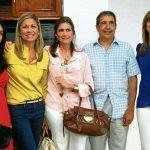Paola Gómez, Ingrid Munévar, Margarita Gómez, Luis Eduardo Gómez y Carolina Gómez.
